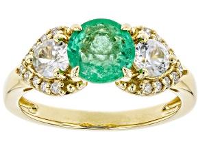 Green Ethiopian Emerald 14k Yellow Gold Ring 1.98ctw