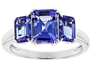 Blue Tanzanite Rhodium Over 14k White Gold Ring 2.39ctw