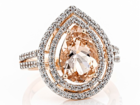 Pink Morganite 14k Rose Gold Ring 2.78ctw