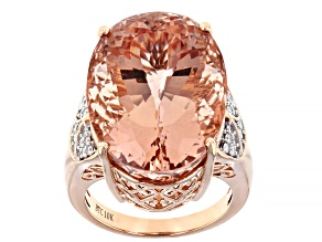 Pink Cor De Rosa™ Morganite 10k Rose Gold Ring 22.09ctw
