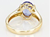 Tanzanite Solitaire 2.75ct 14k Yellow Gold Ring