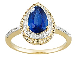 Blue Kyanite 14k Yellow Gold Ring 1.96ctw