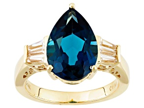 London Blue Topaz 14k Yellow Gold Ring 5.05ctw.