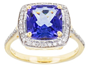 Blue Tanzanite 14k Yellow Gold Ring 3.06ctw.