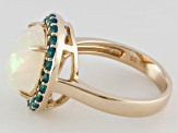 Multi Color Ethiopian Opal 14k Yellow Gold Ring 3.53ctw.