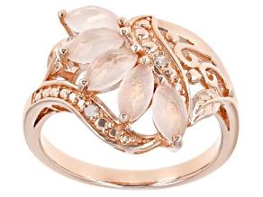 Rose Quartz 18k Rose Gold Over Sterling Silver Ring 0.90ctw