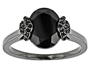 Black Spinel, Black Rhodium Over Sterling Silver Ring 2.64ctw