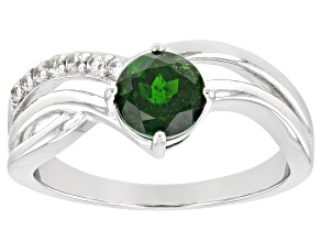Chrome Diopside Rhodium Over Sterling Silver Ring. 1.06ctw