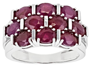 Red Mahaleo® Ruby Rhodium Over Sterling Silver Ring 3.83ctw