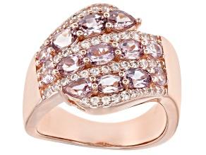Multicolor Garnet 18K Rose Gold Over Sterling Silver Ring 2.46ctw