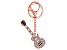 Back the Beat™ White Crystal, Rose Tone Electric Guitar Key Chain