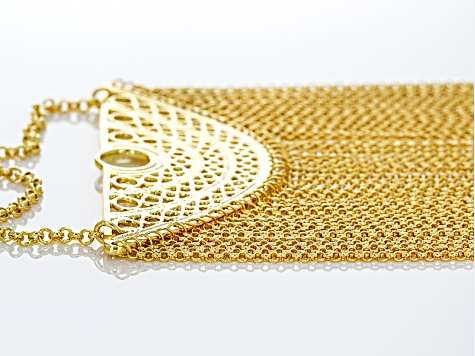 18k Yellow Gold Over Bronze Necklace