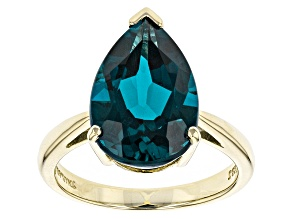 London Blue Topaz 10k Yellow Gold Ring 5.95ct