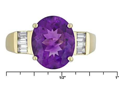Purple Moroccan Amethyst 10k Yellow Gold Ring 2.46ctw