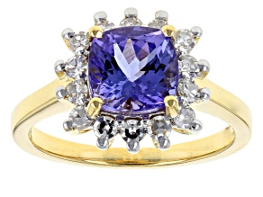 Blue Tanzanite 18k Yellow Gold Ring 2.04ctw