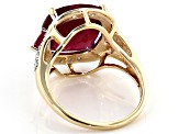 Red Ruby 10k Yellow Gold Ring 7.54ctw