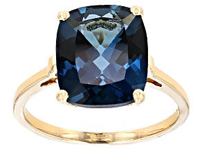 London Blue Topaz 10k Yellow Gold Ring 5.00ct