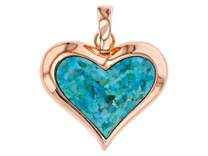 Copper Blue Turquoise Heart Enhancer