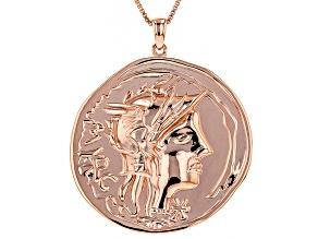 Copper Byzantine Coin Replica Pendant With Chain