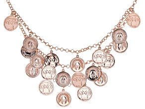 Copper Coin Replica Charm Necklace