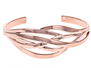 Copper Intertwined Branch Cuff Bracelet