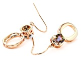 Sweet Tart ™ Quartz Copper Dangle Earrings 1.36ctw
