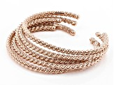 Chain Design Stackable Copper Cuff Bracelets. Set Of 5.