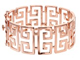 Copper Greek Key Pattern Bangle Bracelet