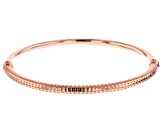 Textured and Smooth Copper Bangle Bracelet