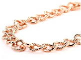 Textured and Smooth Copper Curb Link Chain Necklace