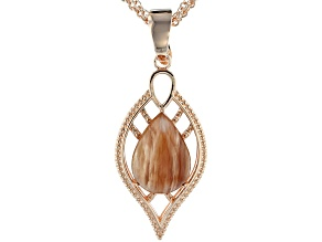 Red Sunstone Copper Enhancer with 3-strand chain