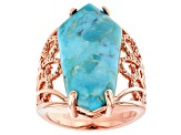 Turquoise Solitaire Copper Ring