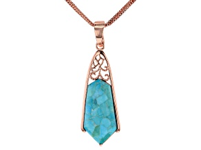 Turquoise Copper Enhancer With 3-Strand Chain