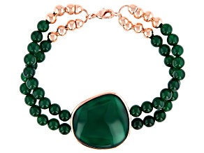 Green Onyx Copper Bracelet