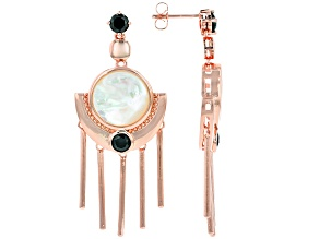 White Mother-Of-Pearl Copper Earrings 1.77ctw