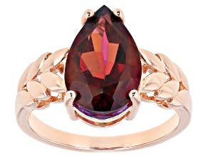 Red Savage Fire™ Quartz Copper Solitaire Ring