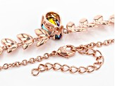 Red Savage Fire™ Quartz Copper Necklace 3.55ct