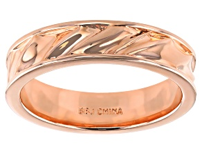 Copper Men's Textured Eternity Band Ring