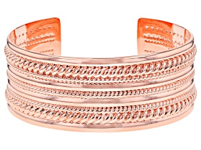Men's Copper Textured Cuff Bracelet
