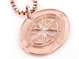 Copper Men's Compass Design Pendant With Chain