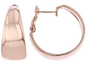 High Polished Copper Hoop Earrings