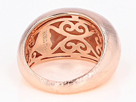 Brushed Copper Dome Ring