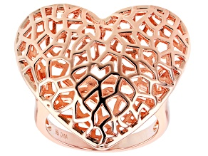 Copper Filigree Heart Ring