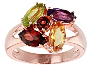 Multi-Stone Copper Cluster Ring 2.18ctw