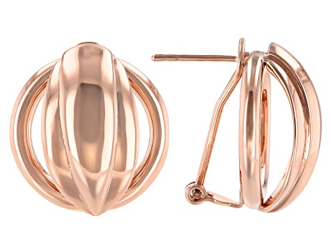 Open Design Copper Earrings