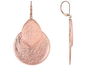 Brushed Copper Dangle Earrings