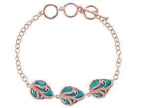 Turquoise Copper Overlay Vine Bracelet