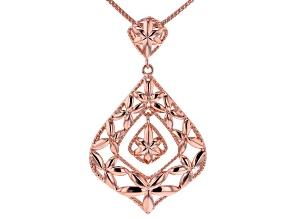 Pudgy Pear Shape Copper Pendant W/ Chain