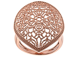 Filigree Pear Shape Copper Ring