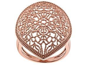 Filigree Pear Shape Copper Ring